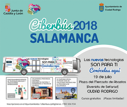 Visita del Ciberbús a Ciudad Rodrigo
