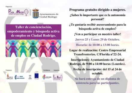 Taller de Concienciación, Empoderamiento y Búsqueda Activa de Empleo en Ciudad Rodrigo.