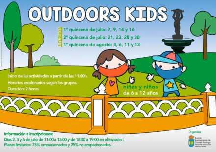 """""""OUTDOOR KIDS"""" – Proyecto de Actividades de dinamización infantil estival 2020."""