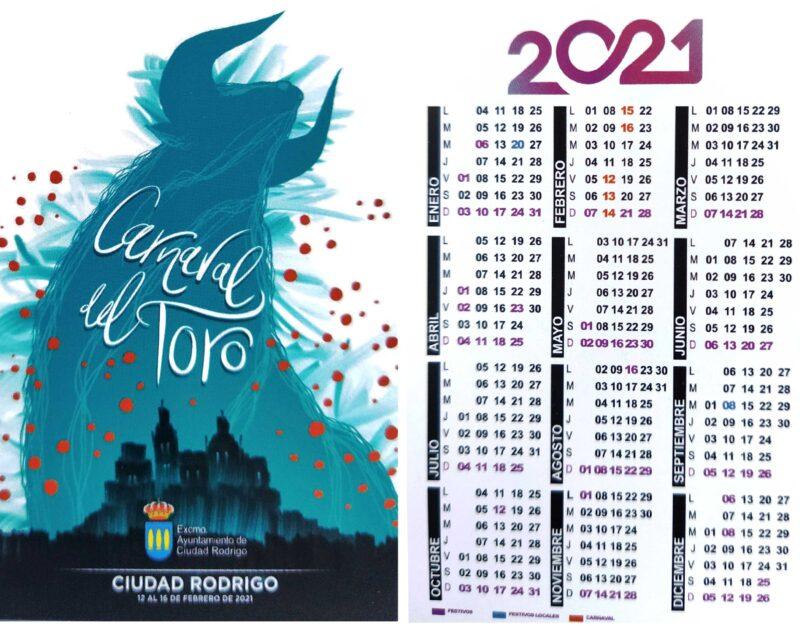 Carteles, calendarios y pegatinas del Carnaval del Toro 2021