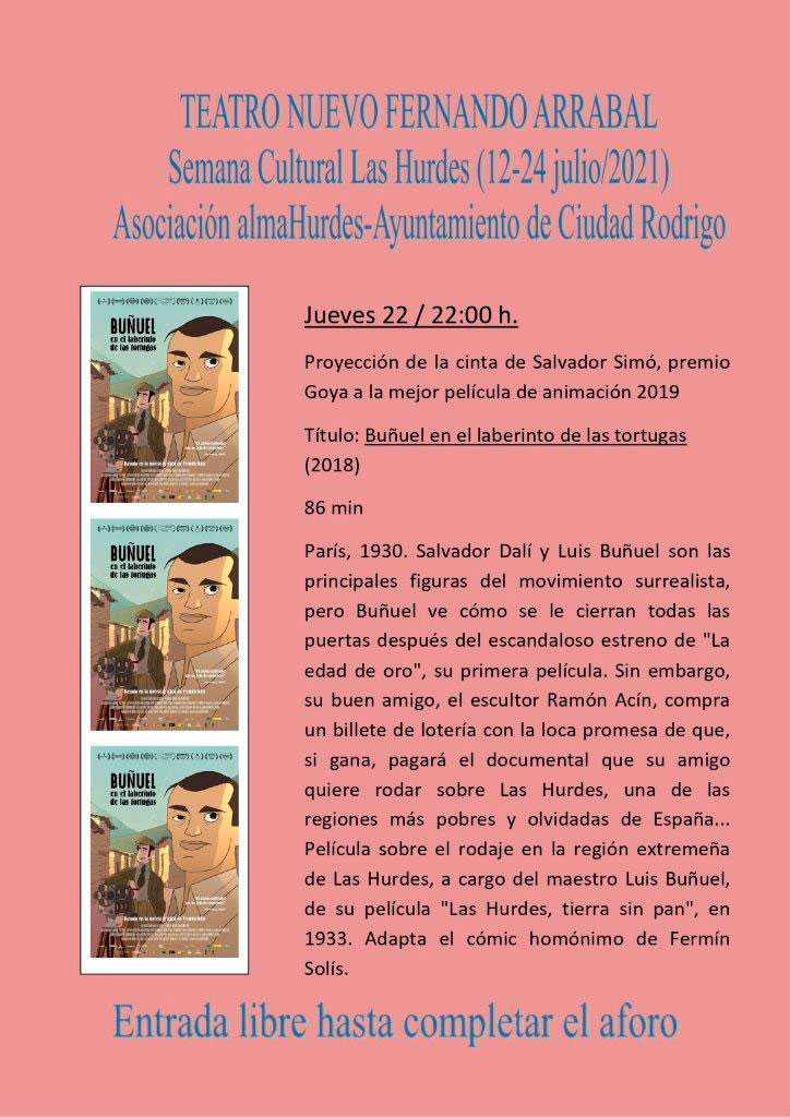 """Proyección de cine documental: """"Buñuel en el laberinto de las tortugas"""""""