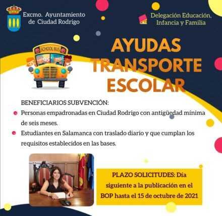 Convocatoria de ayudas al transporte escolar